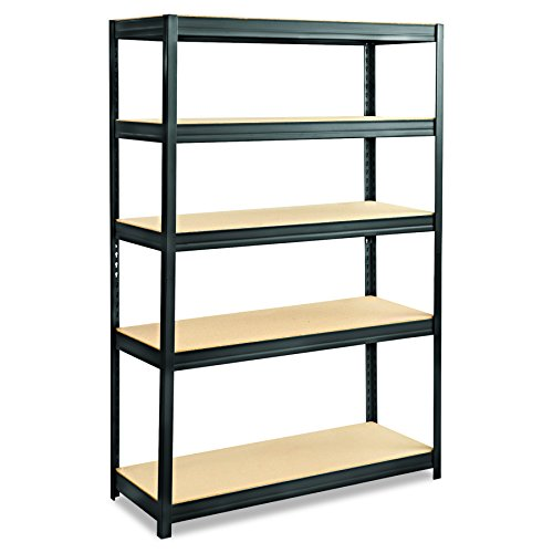 Safco Products 6246BL Boltless Steel and Particleboard Shelving 48
