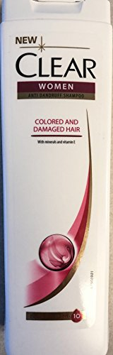 Clear Shampoo ANTI-DANDRUFF Women Colored And Damaged Hair With Minearals and Vitamin E (Colored And Damaged Hair, 3X400Ml/13.52Oz)