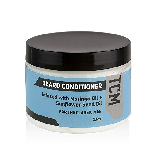 TCM Men's Beard, Mustache, and Facial Hair Conditioner for Softness, Shine, and Control, infused with Moringa Oil and Sunflower Seed Oil (Single)