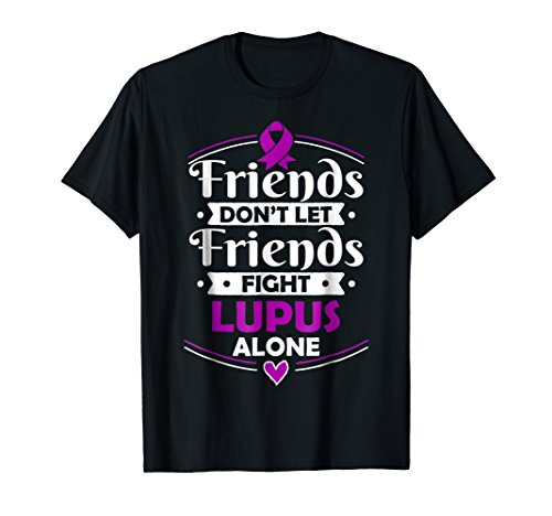 Systemic Lupus Erythematosus T-Shirt Purple Awareness Ribbon