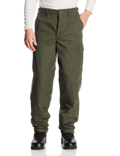 - TRU-SPEC Men's Rip Stop BDU Pant - Medium Long - Olive Drab