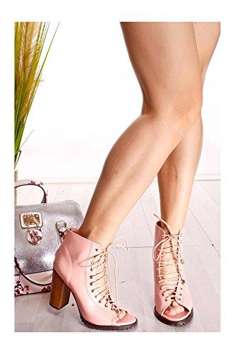 Lolli Couture Triple Strap Platform 6 Inch Hoge Hak Blush-bianca