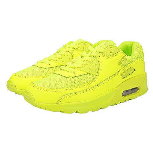 Farjing Couple Air Cushion Shoes Sports Running Shoes Student Travel Casual Shoes(US:9.5,Yellow ) by Farjing