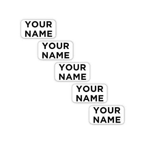 70 Personalized Waterproof Labels for Clothing (Plain Theme) - No-Sew - Laundry Safe - Stick-on