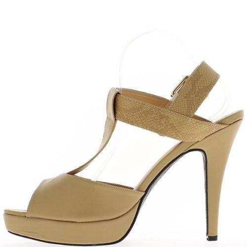 Grande sandali dimensioni 14cm beige tacco e 2,5 cm vassoio