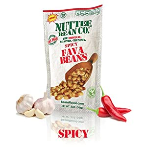 Roasted Fava Beans Spicy Flavor Gluten-Free Healthy Snacks Allergy-Free Food Vegan High Protein Low Calorie Snack with All Natural Ingredients 12 x 2 Ounce by Nuttee Bean Join the Snack Revolution