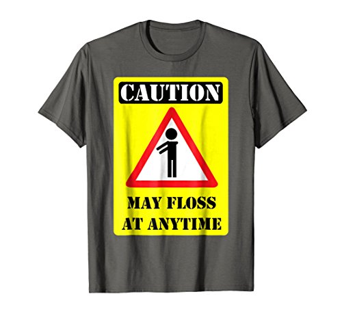 Caution May Floss At Any Time Funny Flossing T-Shirt Gift (Big Time T-shirt Youth)