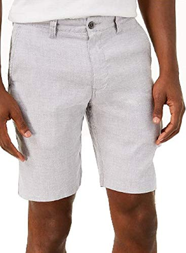 (Tommy Bahama Beach Linen Flat Front Shorts (Color: Storm Gray, Size 40))