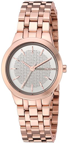 DKNY Women's 'Park Slope' Quartz Stainless Steel Casual Watch, Color:Rose Gold-Toned (Model: NY2492)
