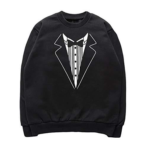 Harajuku Graphique Pulls Unisexe Funny Hoodies Tops cou Zffde Sweatshirts Sweatshirt O Noir Hipster 6vqx0wI
