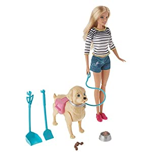 41BoHDAul4L. SS300  - Barbie Walk & Potty Pup with Blonde Doll