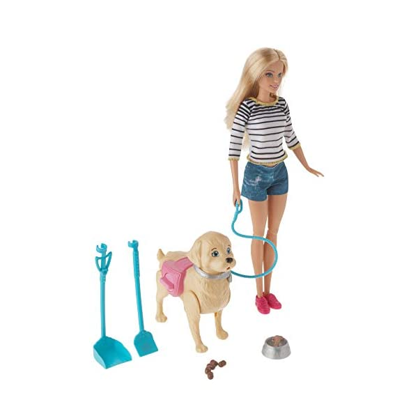 41BoHDAul4L. SS600  - Barbie Walk & Potty Pup with Blonde Doll