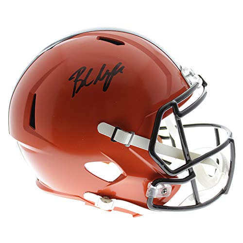 Baker Mayfield Autographed Signed Cleveland Browns Riddell Speed Replica Full Size Helmet- Beckett Certified Authentic