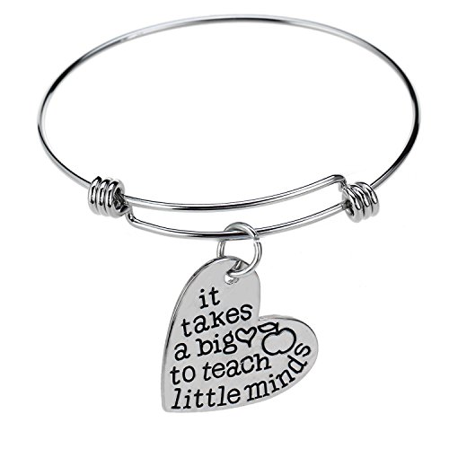Teachers Gift Bangles It Takes A Big Heart To Teach Little Minds Expandable (Big Bangle)