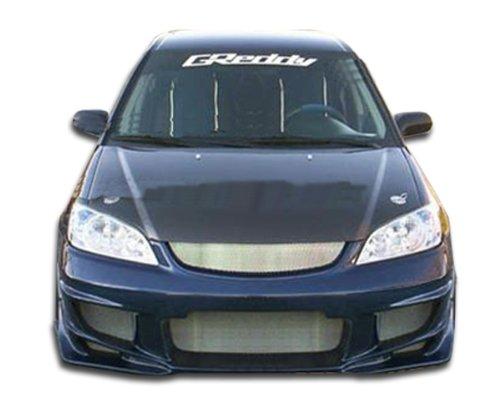 Bomber Body Kit - 4 Piece Body Kit - Fits Honda Civic 2004-2005 ()
