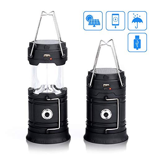 Maxesla Camping Lantern Ultra Bright Collapsible LED Lantern Portable Flashlight with Rechargeable Battery, Durable, Water Resistant, Suitable for Hiking, Camping, Emergencies, Hurricanes, Outages