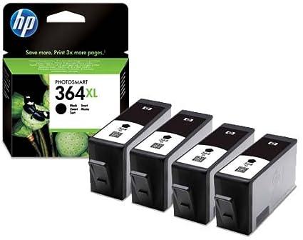 HP 364XL - Pack de 4 cartuchos de tinta negra para impresora ...