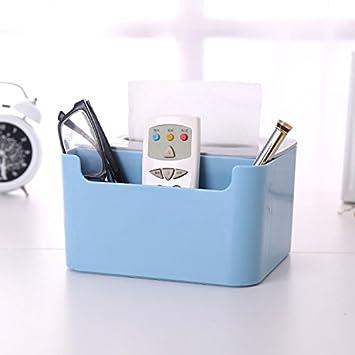 Simple y versátil de toallas de papel de escritorio de taquilla para organizar la bandeja de sala de control remoto se incluye en la caja, azul: Amazon.es: ...