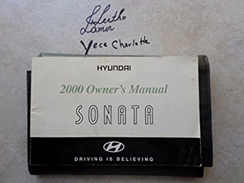 2000 hyundai sonata owners manual yo 000406 hundai motor company rh amazon com Manual Hyundai Sonata Head Light Hyundai Sonata Owner's Manual