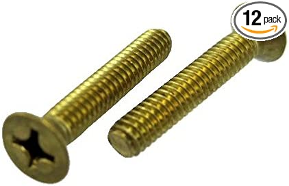 """Phillips Flat Head Machine Screw Solid Brass 4-40 x 1//2/"""" Qty 25"""