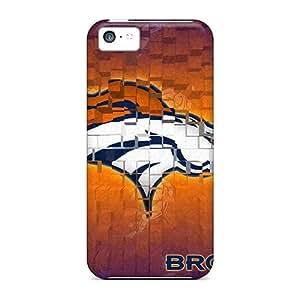 LJF phone case Sanp On Case Cover Protector For Iphone 5c (denver Broncos)