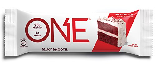 Low Fat Cream Cheese (ONE Protein Bar, Red Velvet Cake, 20g Protein, 1g Sugar, 12-Pack)