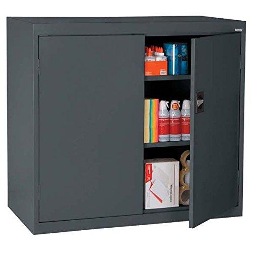 Charcoal Height (Sandusky Lee EA2R462442-02 Elite Series Counter Height Storage Cabinet, 3 Shelves, 46