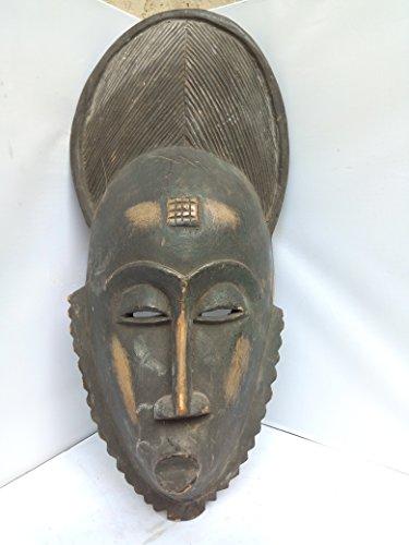 (Antique Bawule, Baule, Baoule Mask From Ivory Coast 20x8 in)