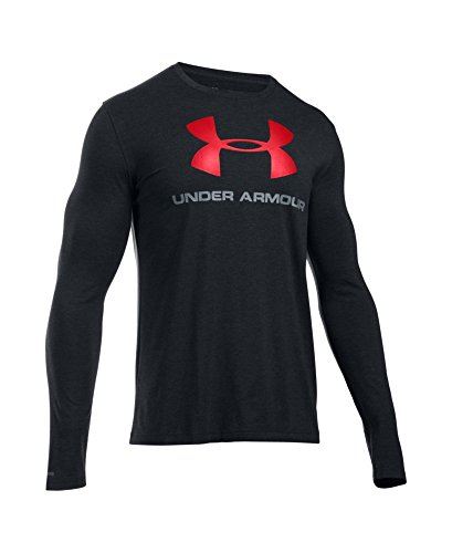 Under Armour Men's Sportstyle Long Sleeve T-Shirt, Black /Red, Large by Under Armour (Image #3)