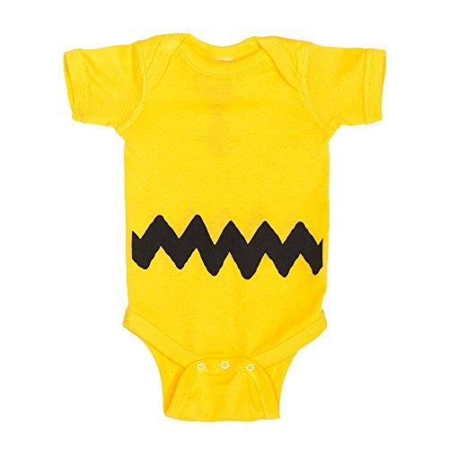 Charlie Brown I Am Charlie Brown Baby Romper Bodysuit (0-6 months) - Charlie Brown Costume Baby