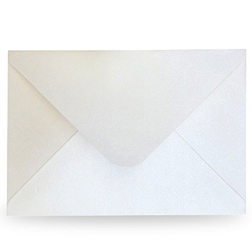Doris Home 50pcs A-7 Pearl Beige Envelopes for Wedding Invitations, Greeting Cards, Photos, Announcements (5.3 x 7.7 inch) EN02-50 (Light -