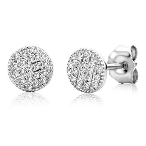 Miore - SA913E - Boucles d'Oreilles Femme - Or blanc 375/1000 (9 carats) 0.62 gr - Diamant