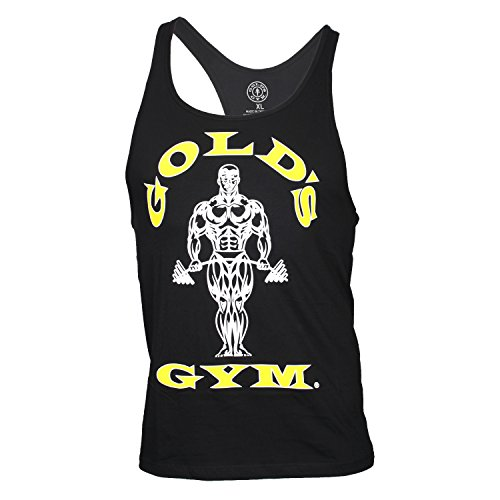 Gym Algodón Classic Tirantes 100 Negro De Camiseta Gold's d7wYqd