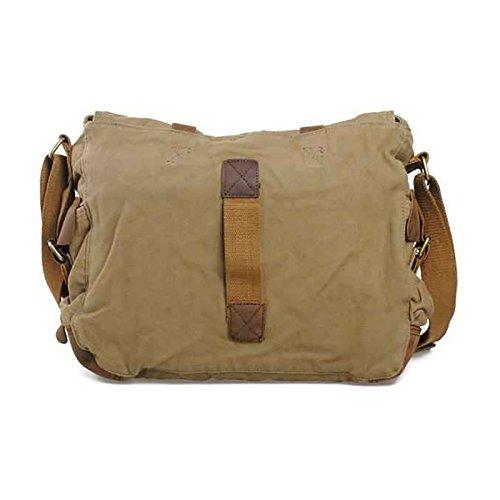 Shoulder Sports Verde Vintage Casual Bag Messenger Vrikoo X blue Canvas Crossbody Bags grande Satchel Military Militare School SYdIfw