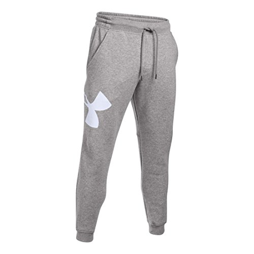 Under Armour Men's Rival Exploded Logo Jogger, True Grey Hea