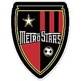 "NY New York Metrostars Red Bulls MLS - United States Football Soccer Futbol - Car Sticker - 5"""
