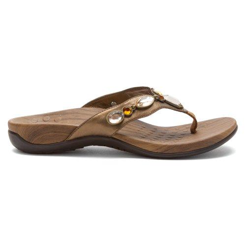 Orthaheel, sandales pour femme bronze métallisé or 6