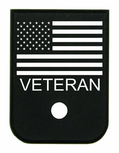 Magazine Base Floor Plate for Glock Pistols - 9mm & 40 US Flag veteran