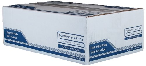 Fortune Plastics Hi D Tuff Coreless HDPE 56 Gallon Waste Can Liner, Star Seal, Black, 0.62 Mil, 48'' x 43'' (Case of 200) by Fortune Plastics (Image #1)