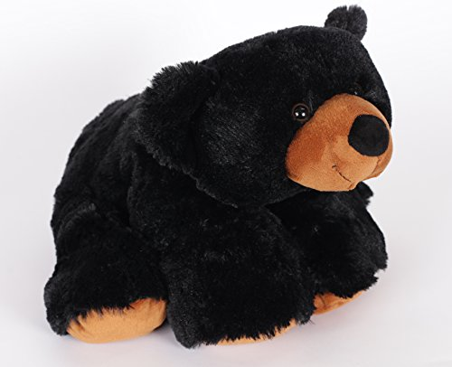 "Wishpets Stuffed Animal - Soft Plush Toy for Kids - 19"" Floppy Black Bear with Big Nose"