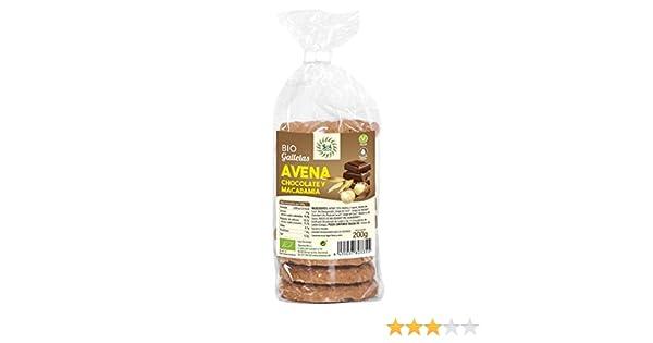 Galletas de avena con chocolate y macadamia Sol Natural 200 g ...
