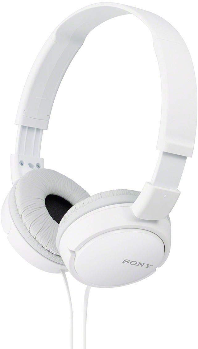 Sony MDR-ZX110APW Wired Headset with Mic(White, On the Ear)