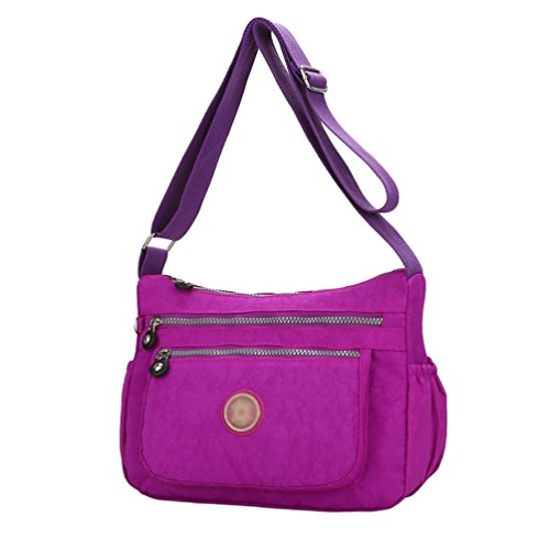 Shoulder Light Adjustable Bag Yujeet Multi Color Purple Women Shoulder Bag Strap Lightweight Solid Crossbody Zip Casual 1pvfSpqw