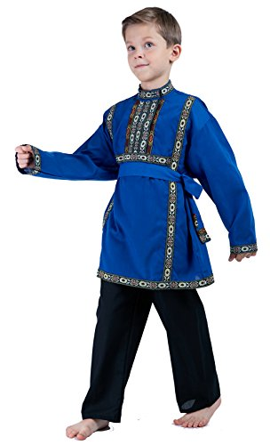 Lavenderi Russian Boys Traditional Clothing Costume dress (8-12 years-old, (Nationality Costumes)