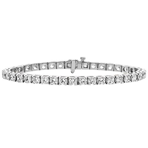 1.52 Ct Round Diamond (JewelsForum 14K White Gold Full Eternity Diamond Ring With 1.52 Carat Round Cut Natural Diamonds (Colour HI Clarity I1-I2))