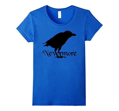 Nevermore Raven Costume (Womens Raven Image Nevermore Popular Halloween Costume Idea Medium Royal Blue)