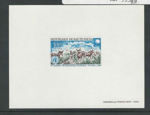 Burkina Faso, Postage Stamp, C63 Mint NH Die Proof Card, 1969 Animals