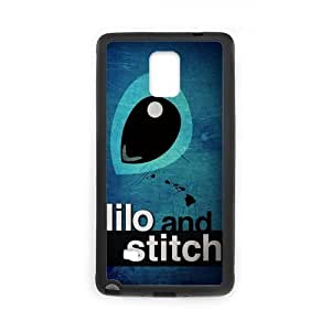 1pc Rubber Snap On Cartoon Case Cover Skin For Samsung Galaxy Note 4 (Laser Technology), Lilo Stitch Galaxy Note4 Covers