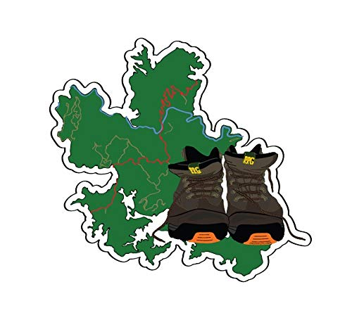 (Mountain Creek Anglers Red River Gorge Hiking Boots Sticker Decal)