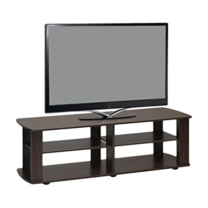 Amazon Com Home Loft Concept 43 Tv Stand Dark Brown Kitchen